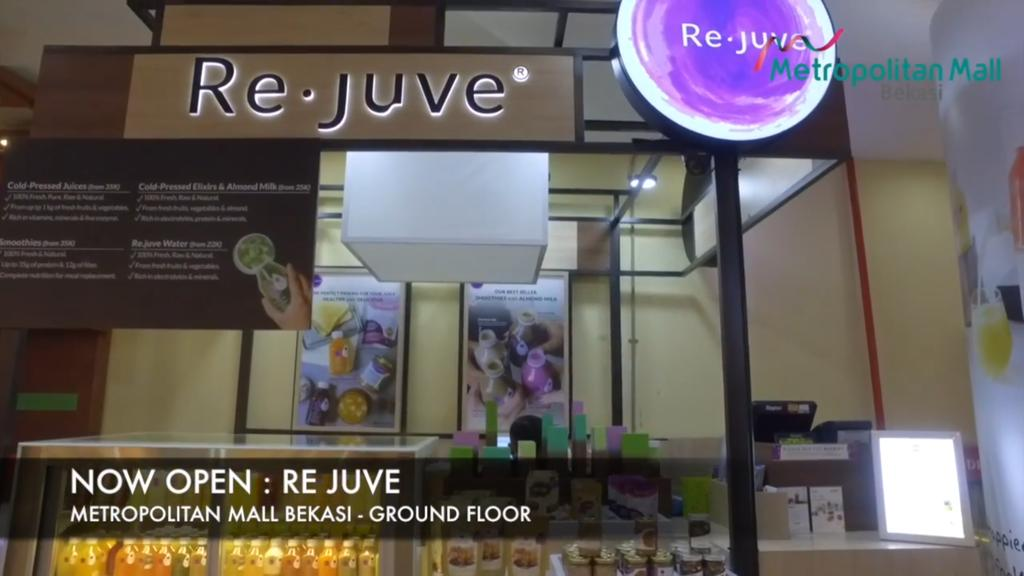 Now Opening REJUVE at Metropolitan Mall Bekasi Ground Floor